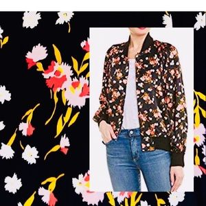 """NWT"" Beautiful A..L.C Silk Floral Bomber Jacket."